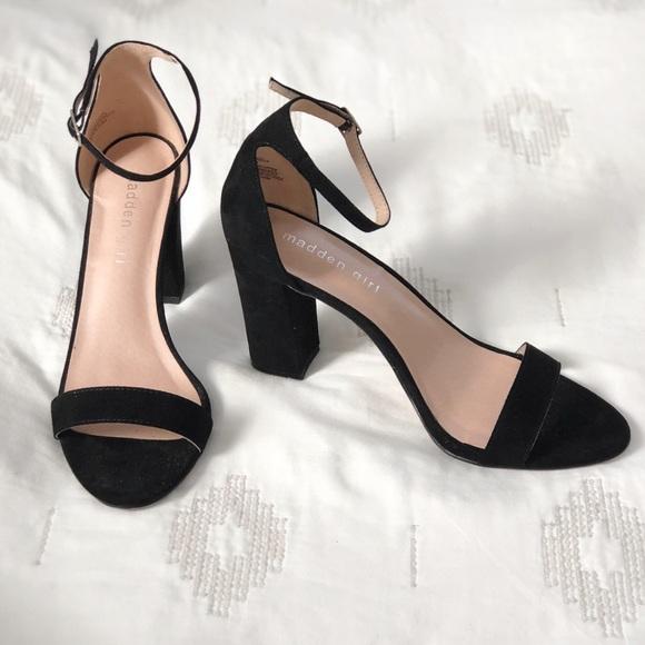 0461183cf32 Madden Girl Shoes - Madden Girl Bella (Beella) Heels Black Ankle Strap